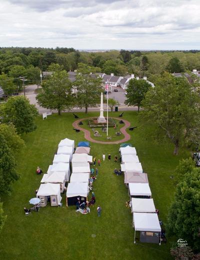Drone Photograph Hampton Falls - Art on the common
