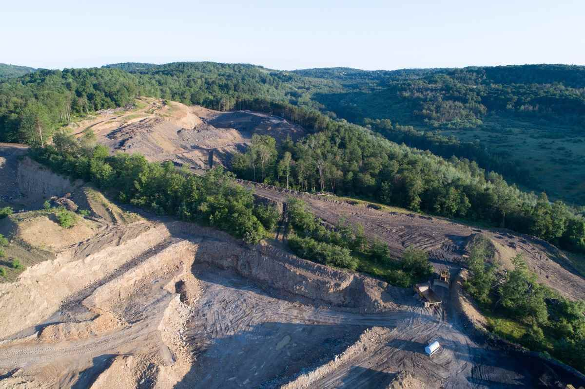 Drone photograph Arcadia Pa _ Strip Mine Photograph